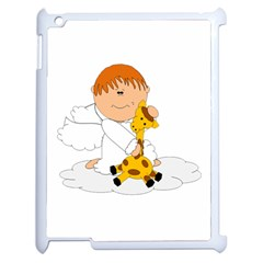 Pet Giraffe Angel Cute Boy Apple Ipad 2 Case (white)