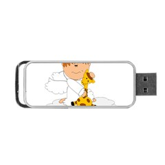 Pet Giraffe Angel Cute Boy Portable Usb Flash (one Side)