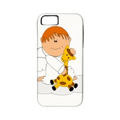 Pet Giraffe Angel Cute Boy Apple Iphone 5 Classic Hardshell Case (pc+silicone)