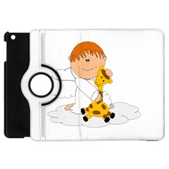 Pet Giraffe Angel Cute Boy Apple Ipad Mini Flip 360 Case