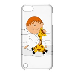 Pet Giraffe Angel Cute Boy Apple Ipod Touch 5 Hardshell Case With Stand