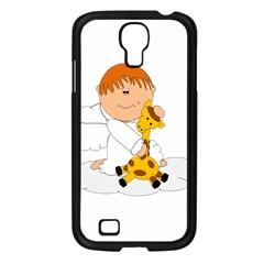 Pet Giraffe Angel Cute Boy Samsung Galaxy S4 I9500/ I9505 Case (black)