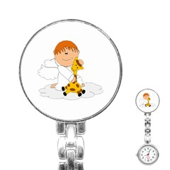 Pet Giraffe Angel Cute Boy Stainless Steel Nurses Watch