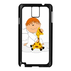 Pet Giraffe Angel Cute Boy Samsung Galaxy Note 3 N9005 Case (black)