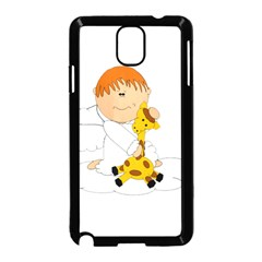 Pet Giraffe Angel Cute Boy Samsung Galaxy Note 3 Neo Hardshell Case (black)