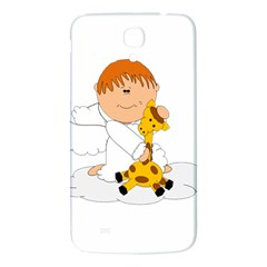 Pet Giraffe Angel Cute Boy Samsung Galaxy Mega I9200 Hardshell Back Case