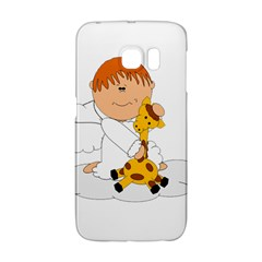 Pet Giraffe Angel Cute Boy Galaxy S6 Edge