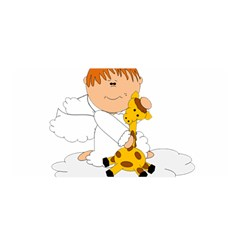 Pet Giraffe Angel Cute Boy Satin Wrap