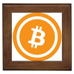 Bitcoin Cryptocurrency Currency Framed Tiles