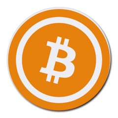 Bitcoin Cryptocurrency Currency Round Mousepads