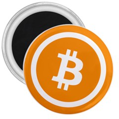 Bitcoin Cryptocurrency Currency 3  Magnets
