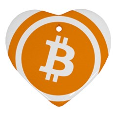 Bitcoin Cryptocurrency Currency Ornament (heart)