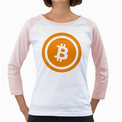 Bitcoin Cryptocurrency Currency Girly Raglans