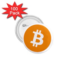 Bitcoin Cryptocurrency Currency 1 75  Buttons (100 Pack)