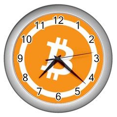 Bitcoin Cryptocurrency Currency Wall Clocks (silver)