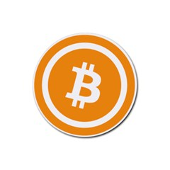 Bitcoin Cryptocurrency Currency Rubber Round Coaster (4 Pack)