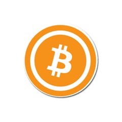 Bitcoin Cryptocurrency Currency Magnet 3  (round)