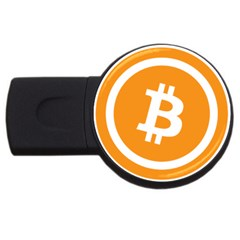 Bitcoin Cryptocurrency Currency USB Flash Drive Round (2 GB)