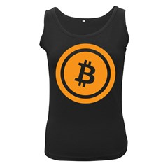 Bitcoin Cryptocurrency Currency Women s Black Tank Top