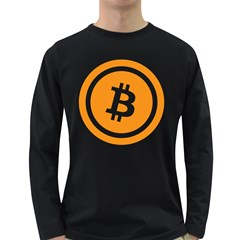Bitcoin Cryptocurrency Currency Long Sleeve Dark T-Shirts