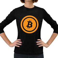Bitcoin Cryptocurrency Currency Women s Long Sleeve Dark T Shirts