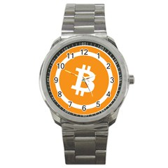 Bitcoin Cryptocurrency Currency Sport Metal Watch