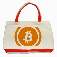Bitcoin Cryptocurrency Currency Classic Tote Bag (red)