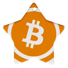 Bitcoin Cryptocurrency Currency Star Ornament (two Sides)
