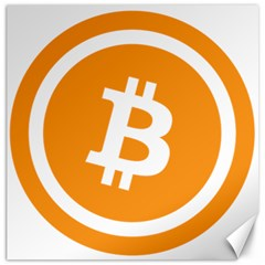 Bitcoin Cryptocurrency Currency Canvas 12  X 12
