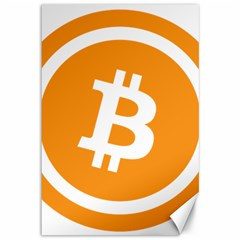 Bitcoin Cryptocurrency Currency Canvas 12  x 18