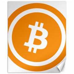 Bitcoin Cryptocurrency Currency Canvas 16  X 20