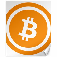 Bitcoin Cryptocurrency Currency Canvas 11  X 14