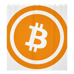 Bitcoin Cryptocurrency Currency Shower Curtain 66  x 72  (Large)