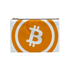 Bitcoin Cryptocurrency Currency Cosmetic Bag (medium)