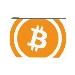 Bitcoin Cryptocurrency Currency Cosmetic Bag (large)