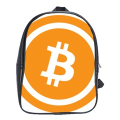 Bitcoin Cryptocurrency Currency School Bags(Large)