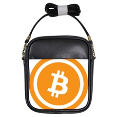 Bitcoin Cryptocurrency Currency Girls Sling Bags