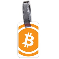 Bitcoin Cryptocurrency Currency Luggage Tags (Two Sides)