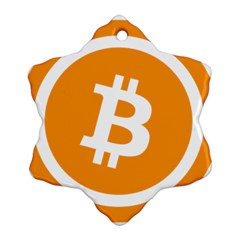 Bitcoin Cryptocurrency Currency Ornament (snowflake)