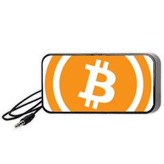 Bitcoin Cryptocurrency Currency Portable Speaker (Black)