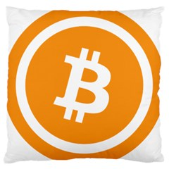 Bitcoin Cryptocurrency Currency Large Cushion Case (One Side)
