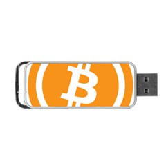 Bitcoin Cryptocurrency Currency Portable Usb Flash (one Side)