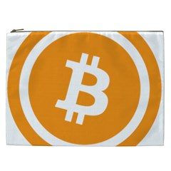 Bitcoin Cryptocurrency Currency Cosmetic Bag (xxl)