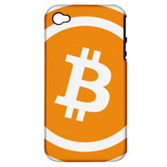 Bitcoin Cryptocurrency Currency Apple Iphone 4/4s Hardshell Case (pc+silicone)