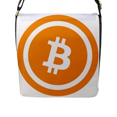 Bitcoin Cryptocurrency Currency Flap Messenger Bag (l)