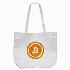 Bitcoin Cryptocurrency Currency Tote Bag (white)
