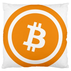 Bitcoin Cryptocurrency Currency Standard Flano Cushion Case (one Side)