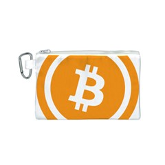 Bitcoin Cryptocurrency Currency Canvas Cosmetic Bag (s)