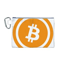Bitcoin Cryptocurrency Currency Canvas Cosmetic Bag (M)