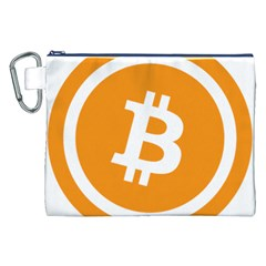 Bitcoin Cryptocurrency Currency Canvas Cosmetic Bag (xxl)